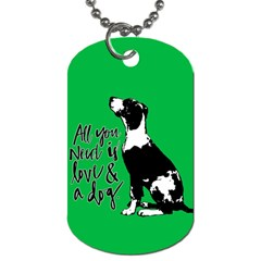 Dog person Dog Tag (One Side)