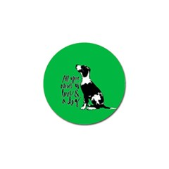 Dog person Golf Ball Marker