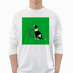 Dog person White Long Sleeve T-Shirts