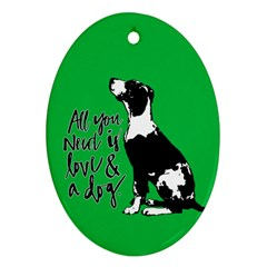Dog person Oval Ornament (Two Sides)