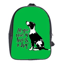 Dog person School Bags(Large)