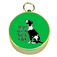 Dog person Gold Compasses