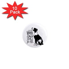 Dog person 1  Mini Magnet (10 pack)