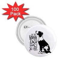 Dog person 1.75  Buttons (100 pack)