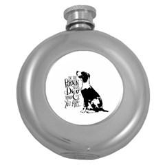 Dog person Round Hip Flask (5 oz)