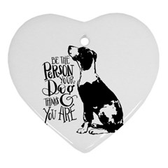 Dog person Heart Ornament (Two Sides)
