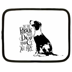 Dog person Netbook Case (XL)