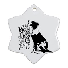 Dog person Snowflake Ornament (Two Sides)