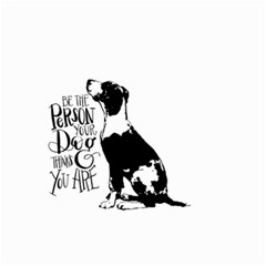 Dog person Small Garden Flag (Two Sides)