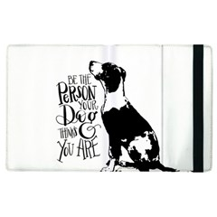 Dog person Apple iPad 3/4 Flip Case