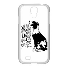 Dog person Samsung GALAXY S4 I9500/ I9505 Case (White)