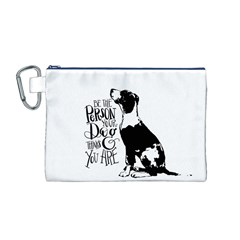 Dog person Canvas Cosmetic Bag (M)