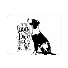 Dog person Double Sided Flano Blanket (Mini)