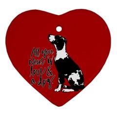 Dog person Ornament (Heart)