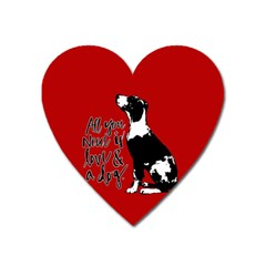 Dog person Heart Magnet