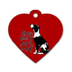 Dog person Dog Tag Heart (Two Sides)
