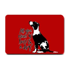 Dog person Small Doormat