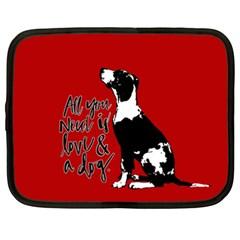 Dog person Netbook Case (XXL)