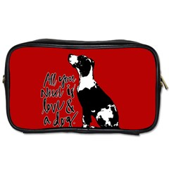 Dog person Toiletries Bags
