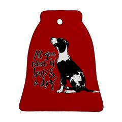 Dog person Bell Ornament (Two Sides)