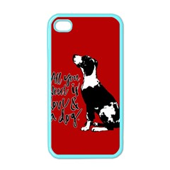 Dog person Apple iPhone 4 Case (Color)