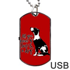 Dog person Dog Tag USB Flash (One Side)
