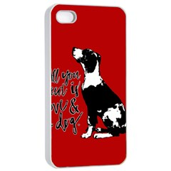 Dog person Apple iPhone 4/4s Seamless Case (White)