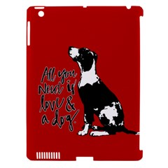 Dog person Apple iPad 3/4 Hardshell Case (Compatible with Smart Cover)