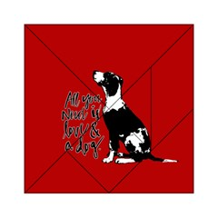 Dog person Acrylic Tangram Puzzle (6  x 6 )