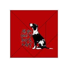 Dog person Acrylic Tangram Puzzle (4  x 4 )