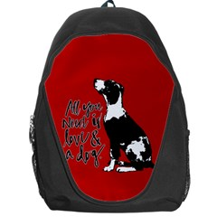 Dog person Backpack Bag