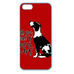 Dog person Apple Seamless iPhone 5 Case (Color)