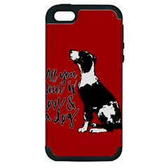Dog person Apple iPhone 5 Hardshell Case (PC+Silicone)