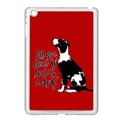 Dog person Apple iPad Mini Case (White)