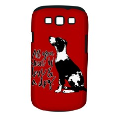 Dog person Samsung Galaxy S III Classic Hardshell Case (PC+Silicone)