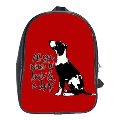 Dog person School Bags (XL)