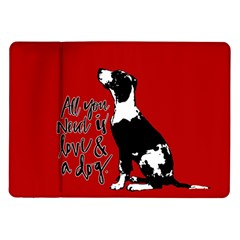 Dog person Samsung Galaxy Tab 10.1  P7500 Flip Case
