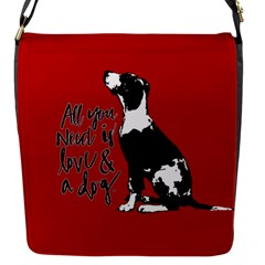 Dog person Flap Messenger Bag (S)