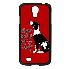 Dog person Samsung Galaxy S4 I9500/ I9505 Case (Black)