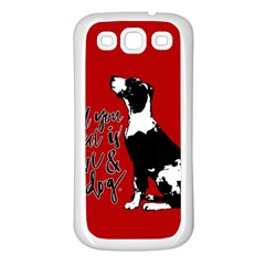 Dog person Samsung Galaxy S3 Back Case (White)