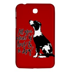 Dog person Samsung Galaxy Tab 3 (7 ) P3200 Hardshell Case