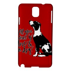 Dog person Samsung Galaxy Note 3 N9005 Hardshell Case