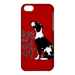 Dog person Apple iPhone 5C Hardshell Case