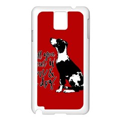 Dog person Samsung Galaxy Note 3 N9005 Case (White)