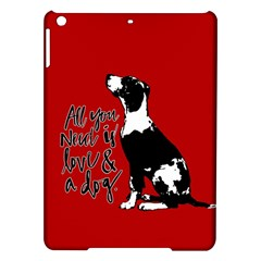 Dog person iPad Air Hardshell Cases