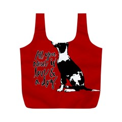 Dog person Full Print Recycle Bags (M)