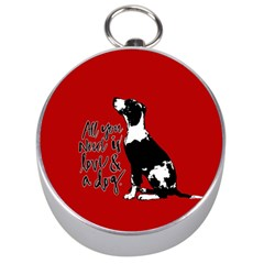 Dog person Silver Compasses