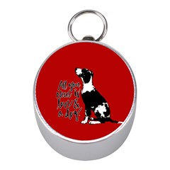 Dog person Mini Silver Compasses