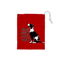 Dog person Drawstring Pouches (Small)