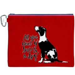 Dog person Canvas Cosmetic Bag (XXXL)